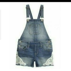 Justice girls shorts overalls 14r